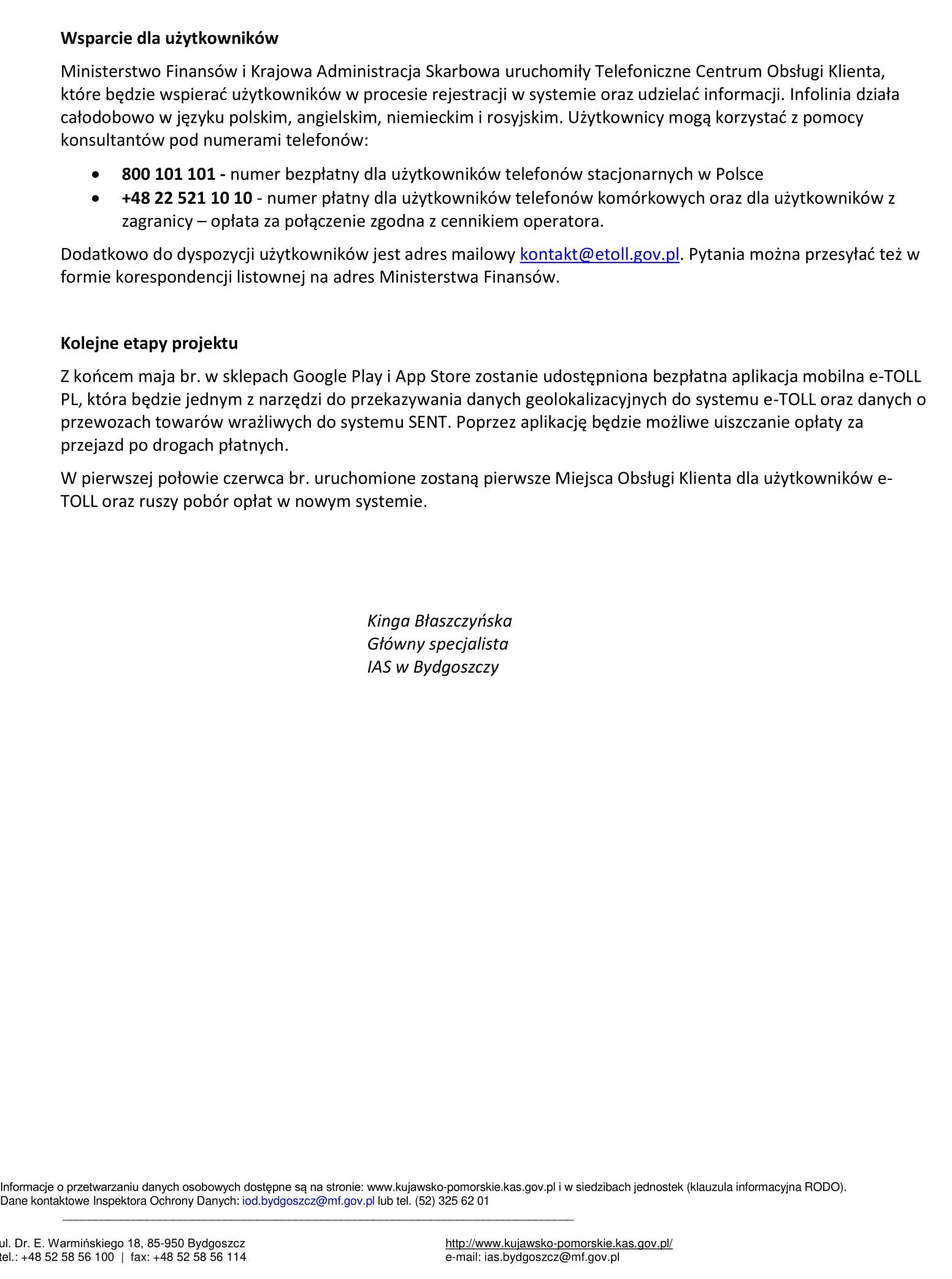 Komunikat - Rejestracja w systemie e-TOLL 25.05.2021 r.-2.jpg (426 KB)